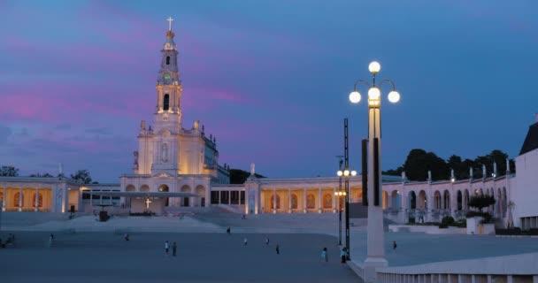 A fatimai szentély Portugáliában éjjel
