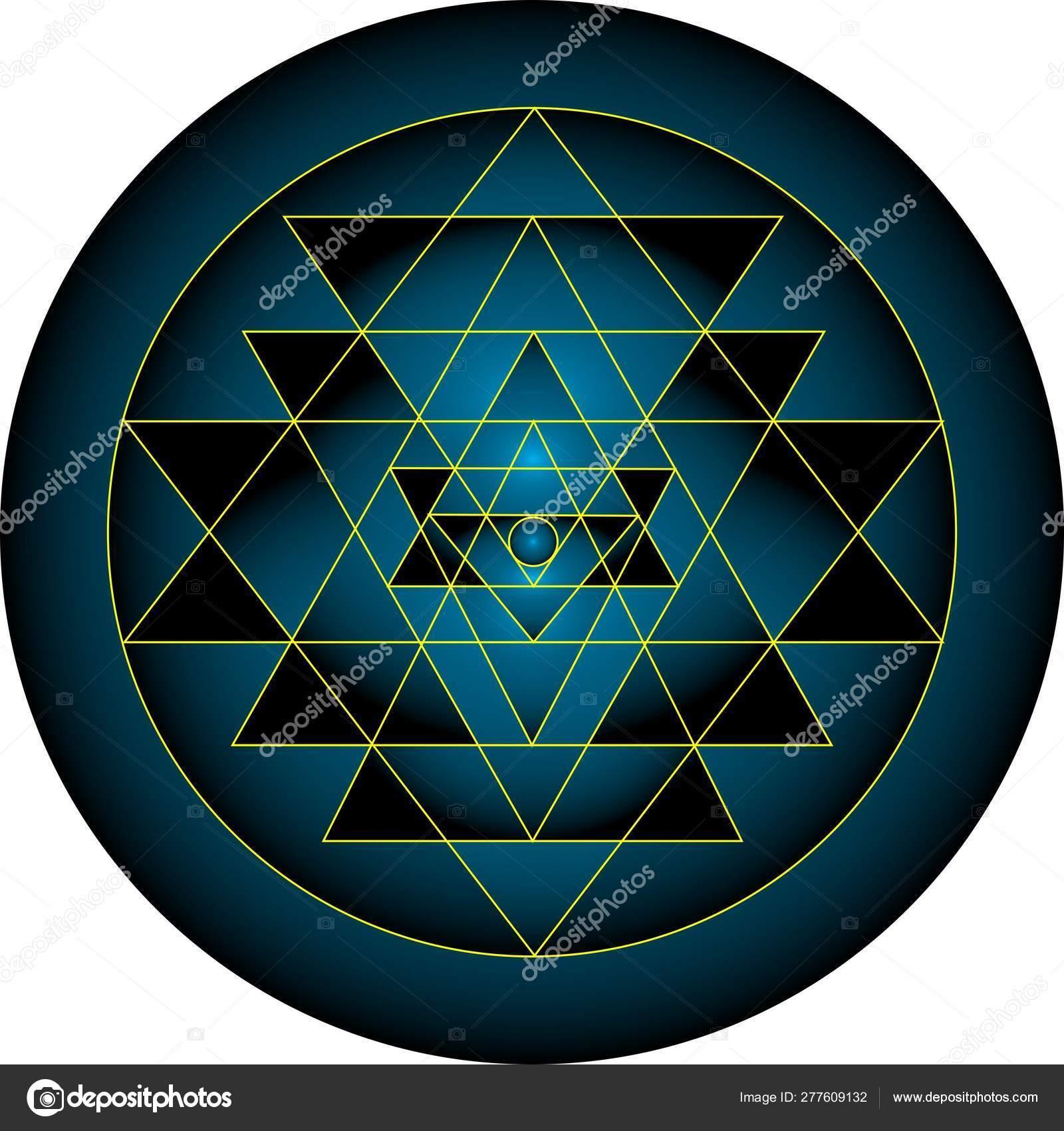 Sacred Geometry Sri Yantra Hexagram Pattern Vector