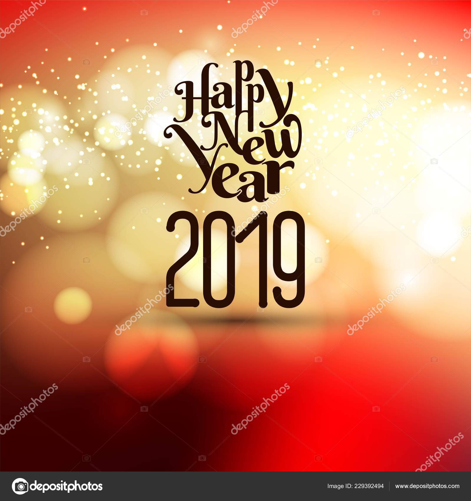 abstract new year 2019 celebration background stock vector