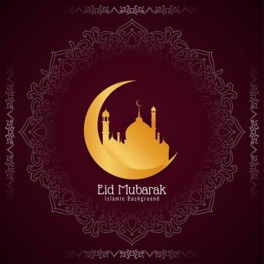 Abstract decorative Eid Mubarak festival background