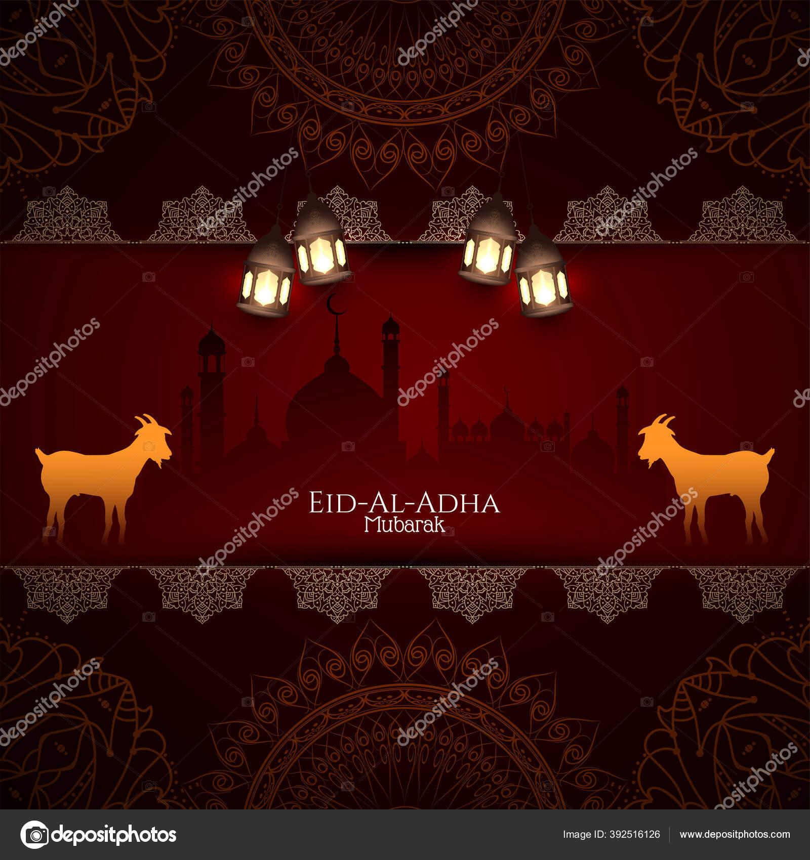 Eid Adha Festival Mubarak Menyapa Vektor Latar Belakang Stok Vektor C Creativehat 392516126