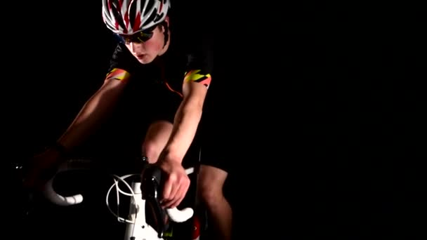 professional triathlete cycling road bike, sport concept, hard workout