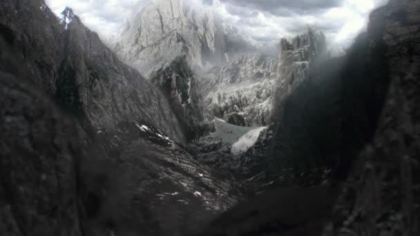 Exkluzivní matný obraz krajiny a hor na jiné planety jako Mars