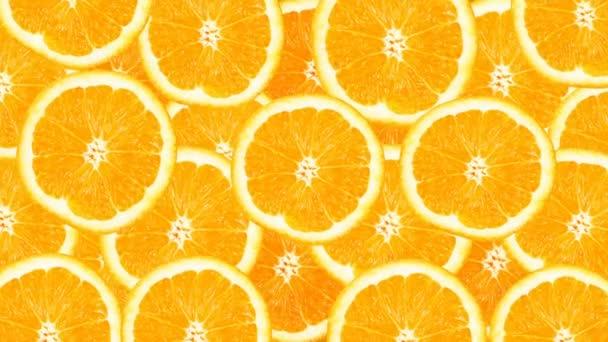 Sunny citrus background. 4k