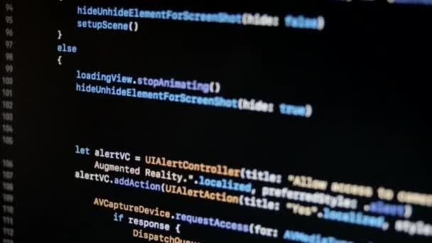 SWIFT kód ios Mac Os X moderní programovací jazyk v Xcode posouvání 3
