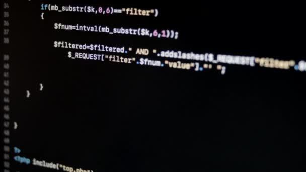 Codice PHP Web Server applicazione Scrolling laterale