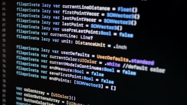 SWIFT kód ios Mac Os X moderní programovací jazyk v Xcode posouvání 2