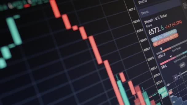 Online akciový trh Chart Bitcoin Btc medvědí a býčí trendy měna 3