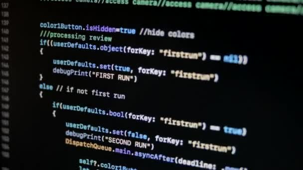 SWIFT kód ios Mac Os X moderní programovací jazyk v Xcode posouvání 1