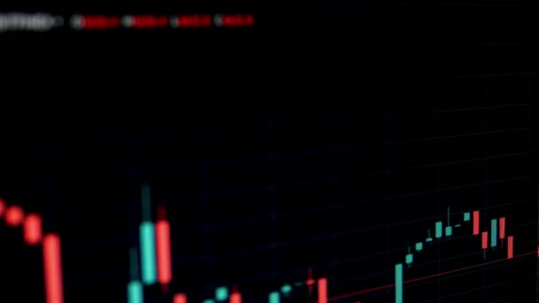 Online akciový trh Chart medvědí a býčí trendy