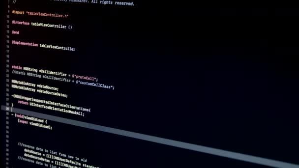Kód 2,14 Objective-C Mac os iOS programozási nyelv szerkesztő