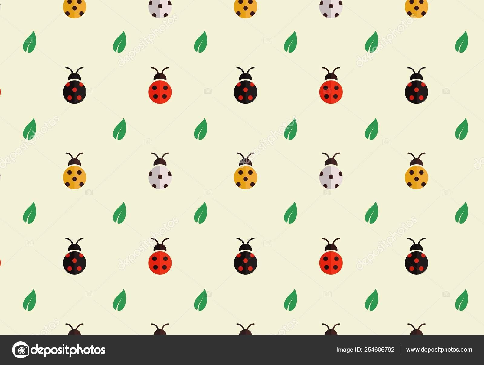 Ladybug Pattern Template Seamless Colorful Ladybugs Pattern
