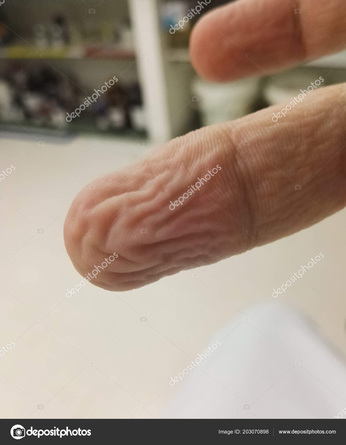 Anatomy Body Finger Human Hand Wrinkled Water Wet Finger Wrinkly