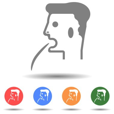 Man vomit vector icon with isolated background icon