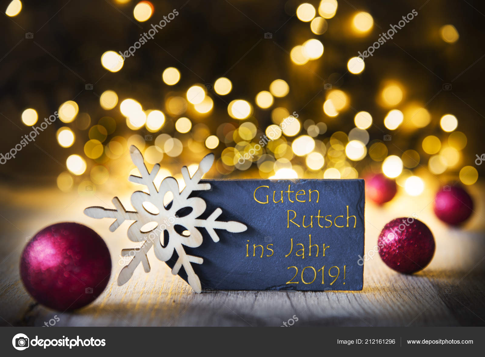Kerstmis Achtergrond Verlichting Guten Rutsch Betekent Gelukkig