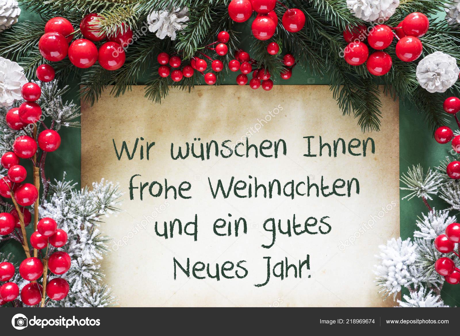 Text Frohe Weihnachten Und Ein Gutes Neues Jahr.Christmas Decoration Gutes Neues Jahr Means Happy New Year Stock