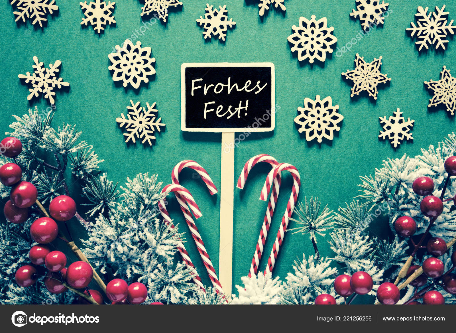 Text Frohes Fest Means Merry Christmas