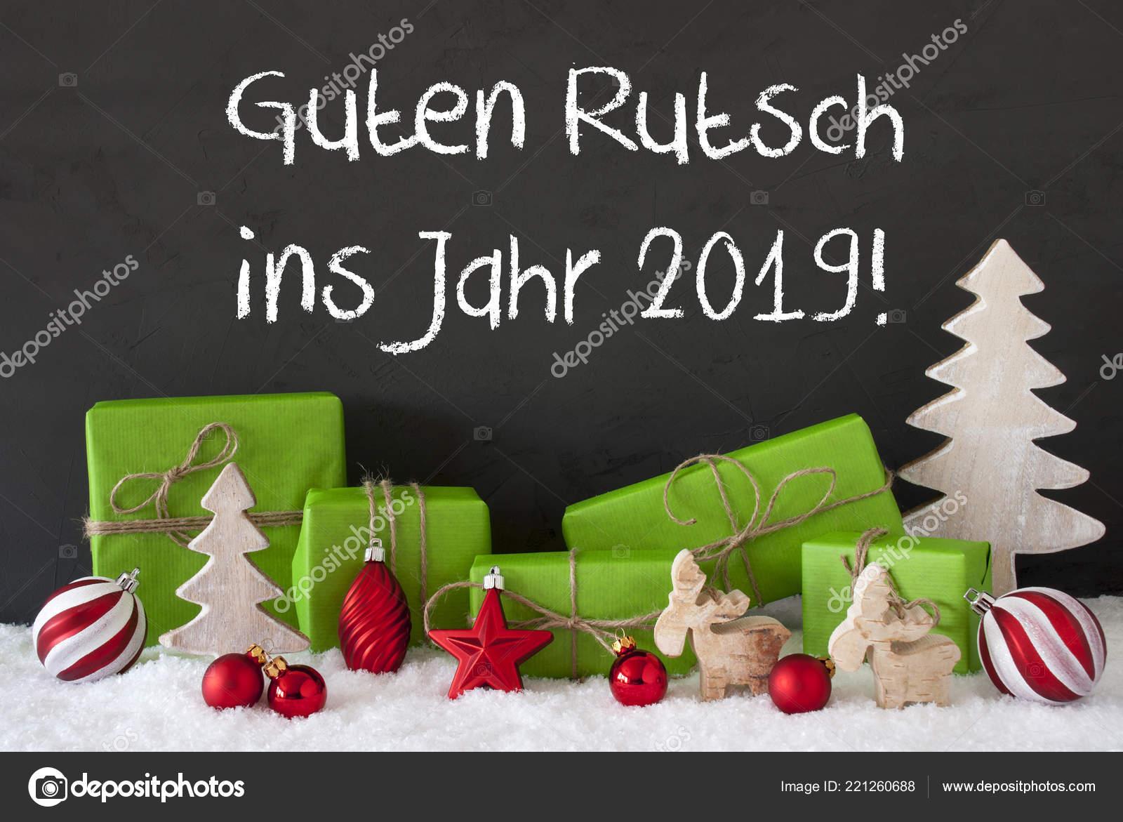 Weihnachten 2019 Schnee.Weihnachten Dekoration Zement Schnee Guten Rutsch 2019 Bedeutet