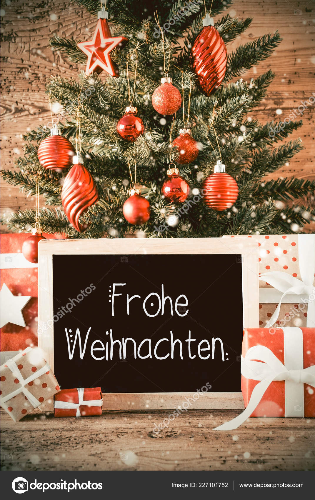 Frohe Weihnachten Download.Vertical Tree Gifts Calligraphy Frohe Weihnachten Means Merry