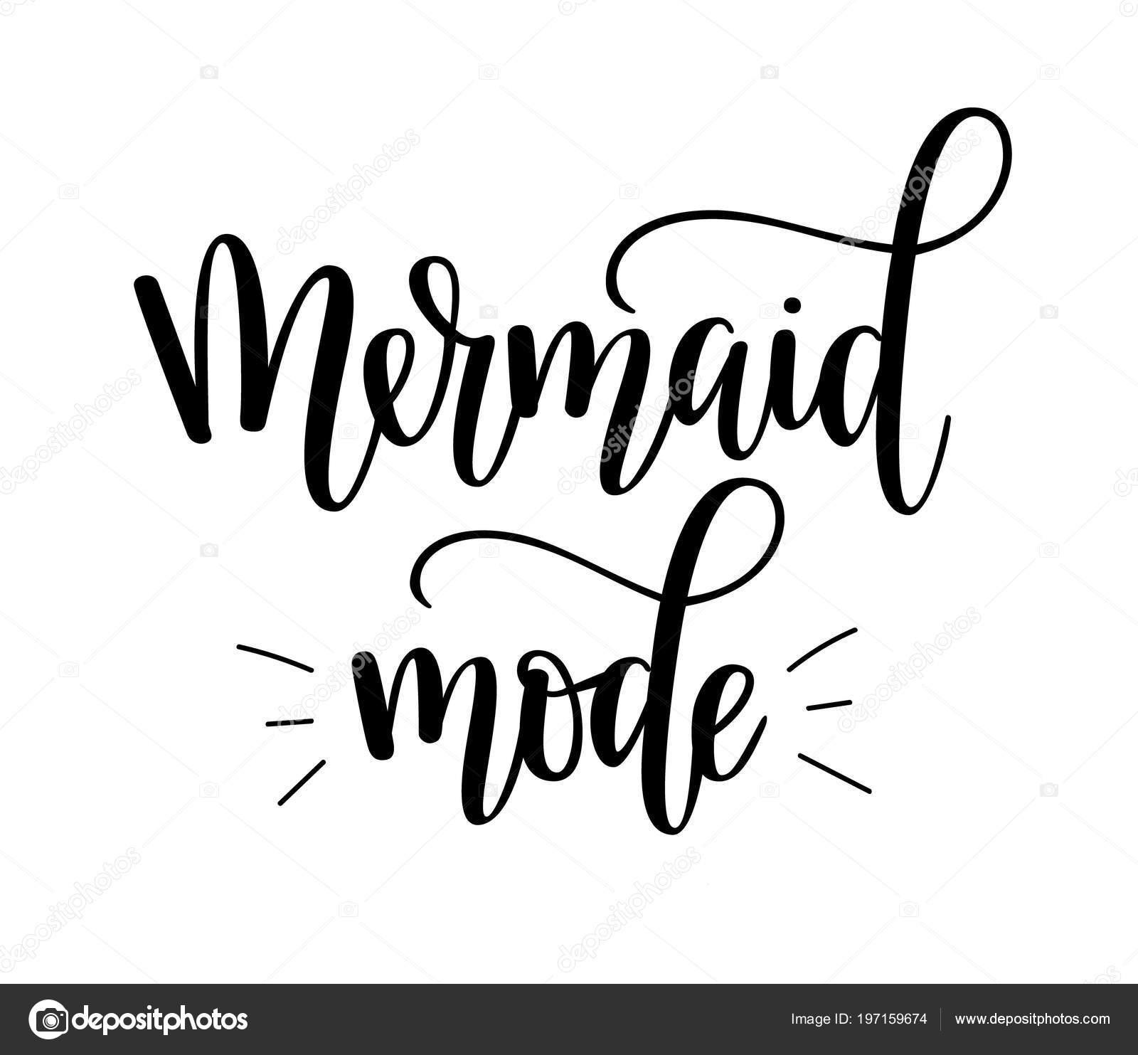 Letras Modo Sirena Cita Chica Belleza Inspiradora Frase Para