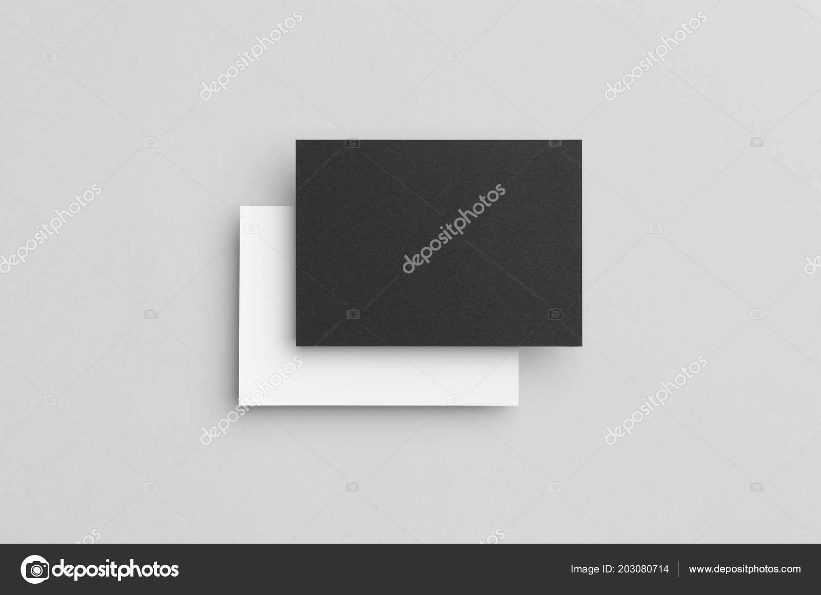 black white flyer postcard invitation mock ストック写真
