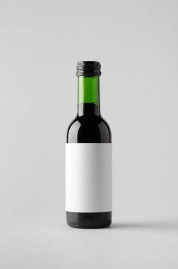 Wine Quarter / Mini Bottle Mock-Up. Blank Label