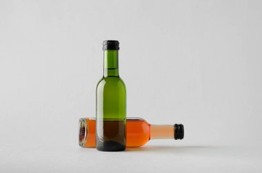 Wine Quarter / Mini Bottle Mock-Up - Two Bottles