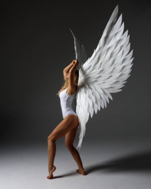 sexy and voluptous angel woman