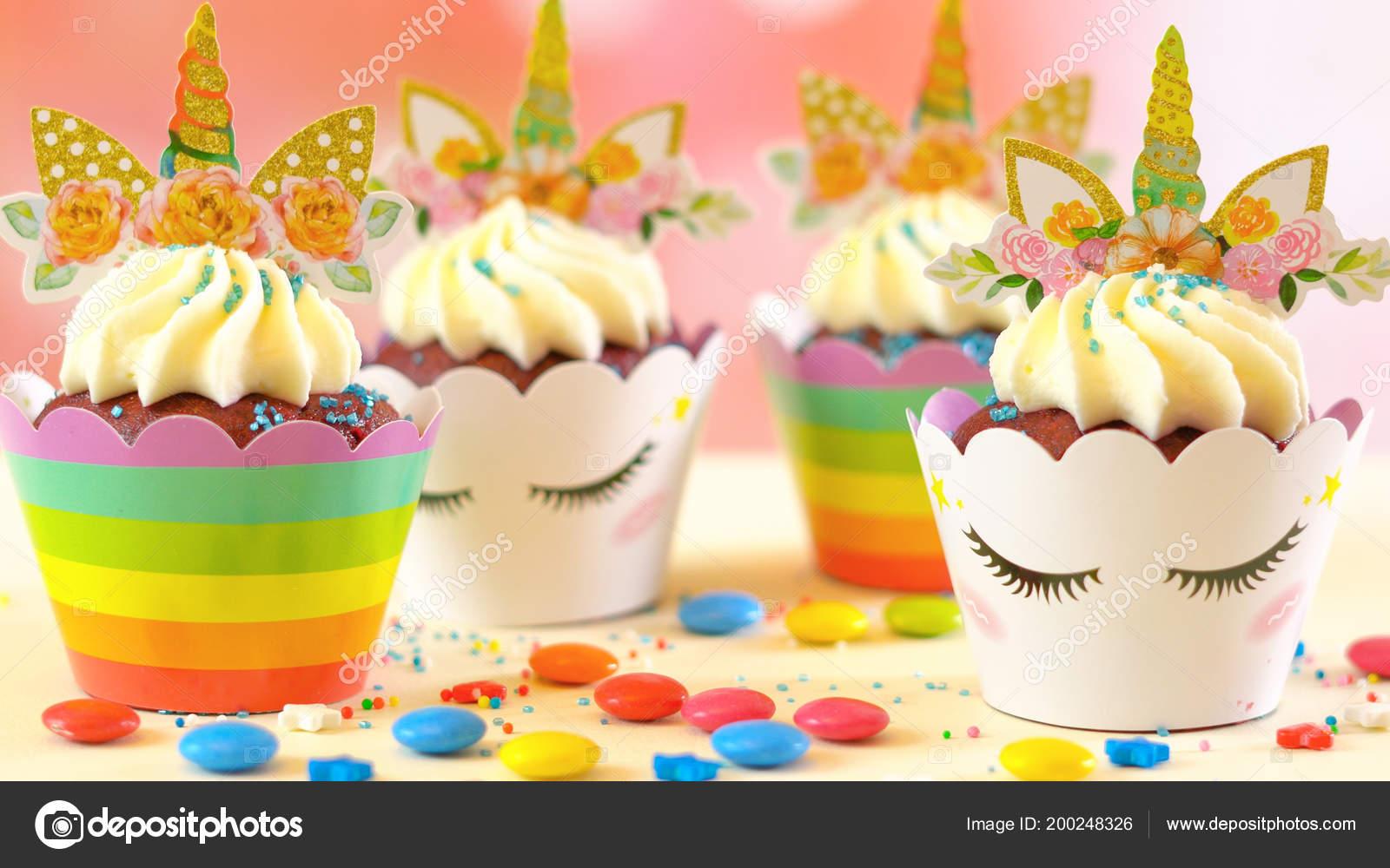 Dekoration Kinder Geburtstag Party Einhorn Unter Dem Motto Cupcakes