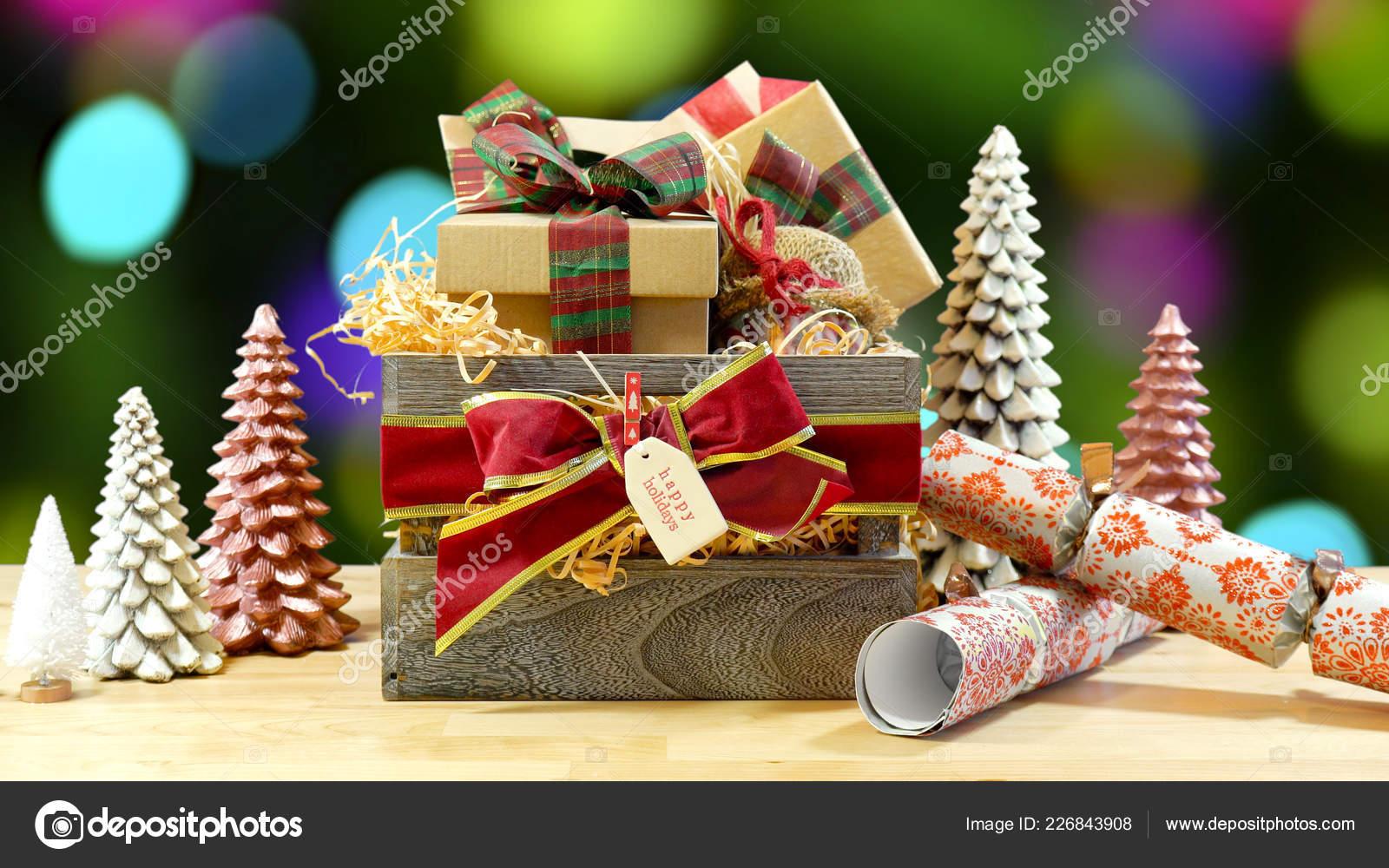 Regali Di Natale Inglese.Grande Stile Inglese Tradizionale Natale Ricolmo Di Regali