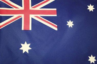 Flag of Australia with vintage wash filter.