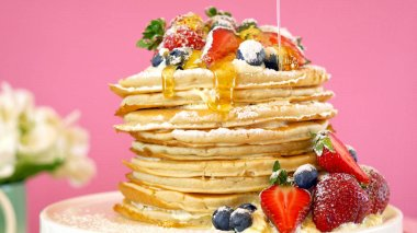 Shrove Pancake Tuesday stack of pancakes cake.