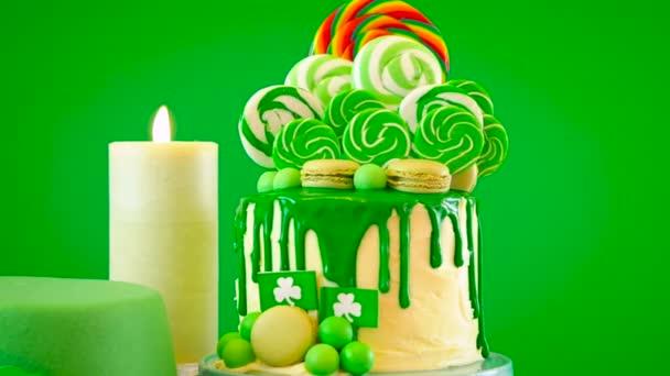 St Patricks Day téma lízátko candy land odkapávací dort