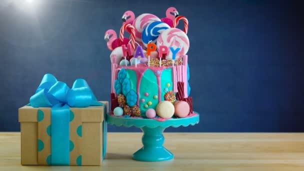 Na trend candyland fantasy odkapávací novinka narozeninový dort