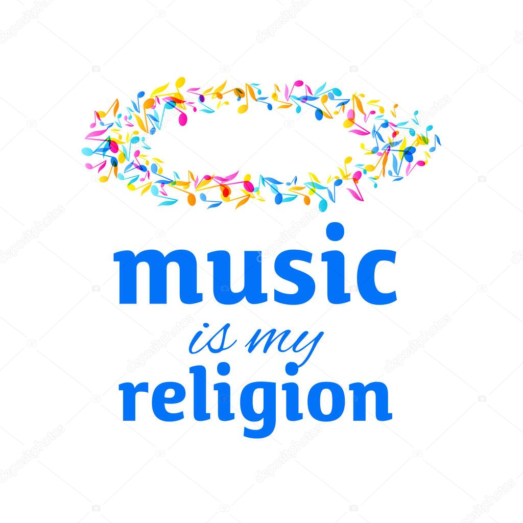 Colorful Music Event Fest Notes Background Random Colored Music Festival Poster Design Template Multicolor Musical Notes On Dark White Background Vector Illustration Inspirational Quotes About Music Music Is My Religion