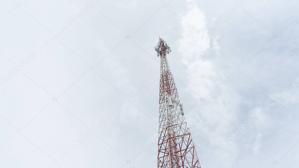 Telecommunication Tower. Cell Phone Signal Tower.