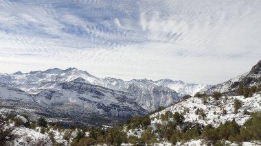 Cajon del Maipo, Farellones and Mirador de los Condores in the Cordillera de los Andes, Santiago de Chile, Chile