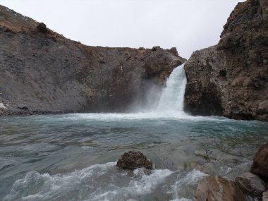 El Yeso waterfall, in the Cajon del Maipo, Chile