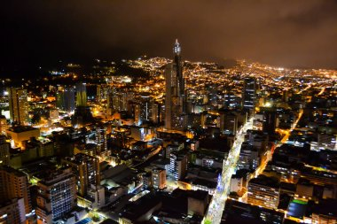 Bogota capital of Colombia at night