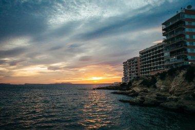 Sunset on the Cafes on Ibiza beaches