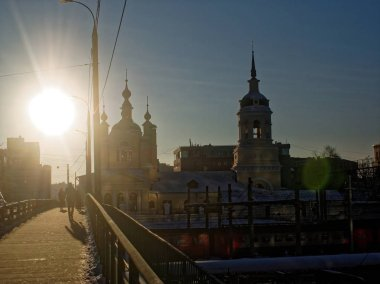 Church on the banks of the Moscow river