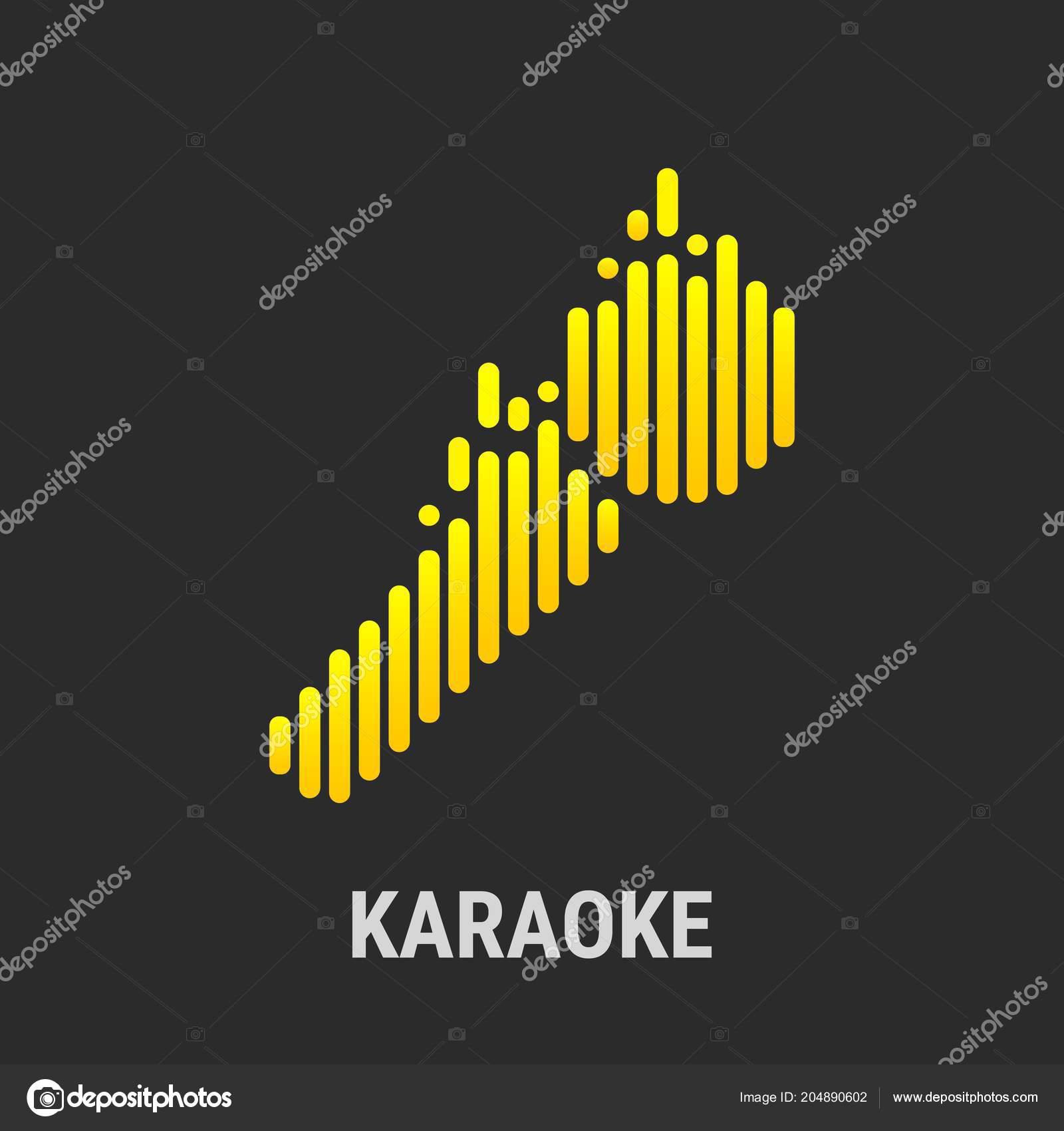 logo template karaoke musical equalizer vector illustration
