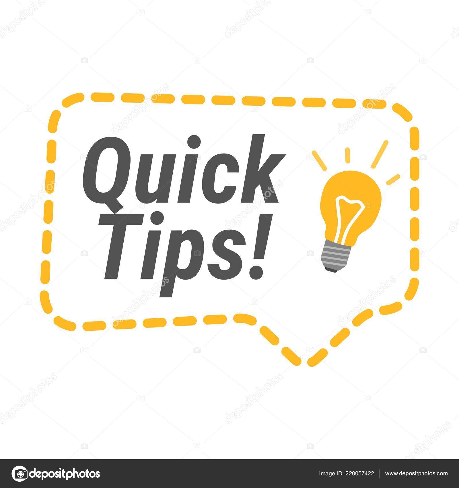Quick Tips Icon. Flat Vector Illustrations On White