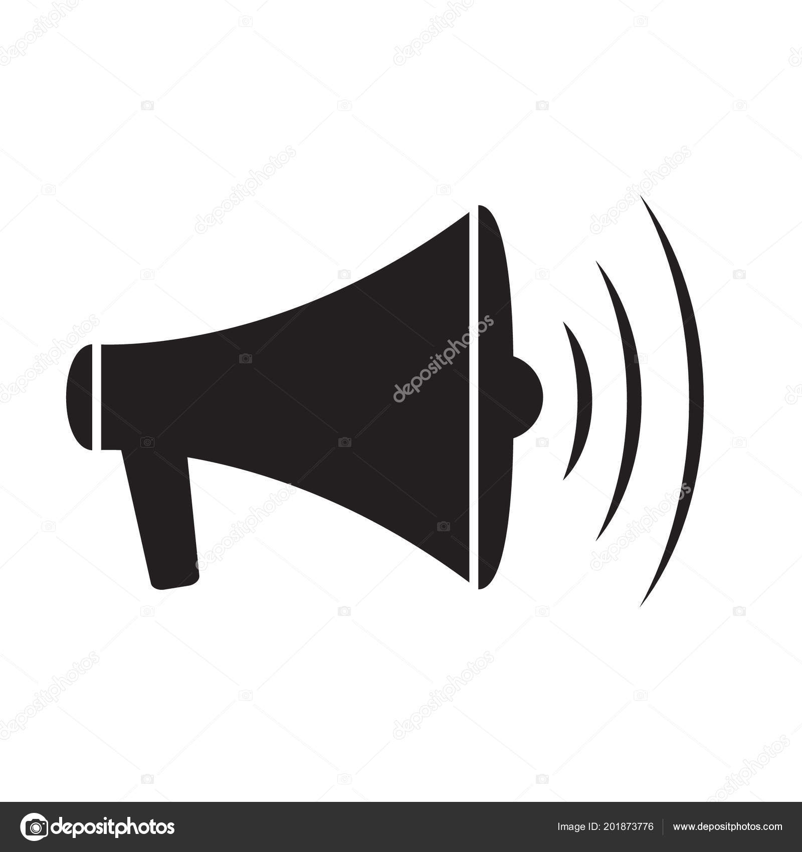 Megaphone Icon Loud Speaker Icon Loudspeaker Symbol Stock Vector