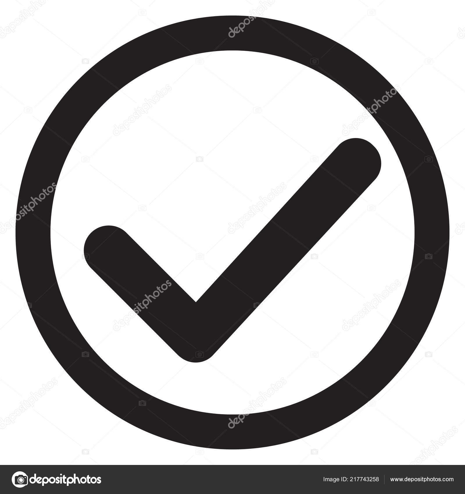 símbolo carrapato Ícone vector checkmark isolado fundo branco Ícone