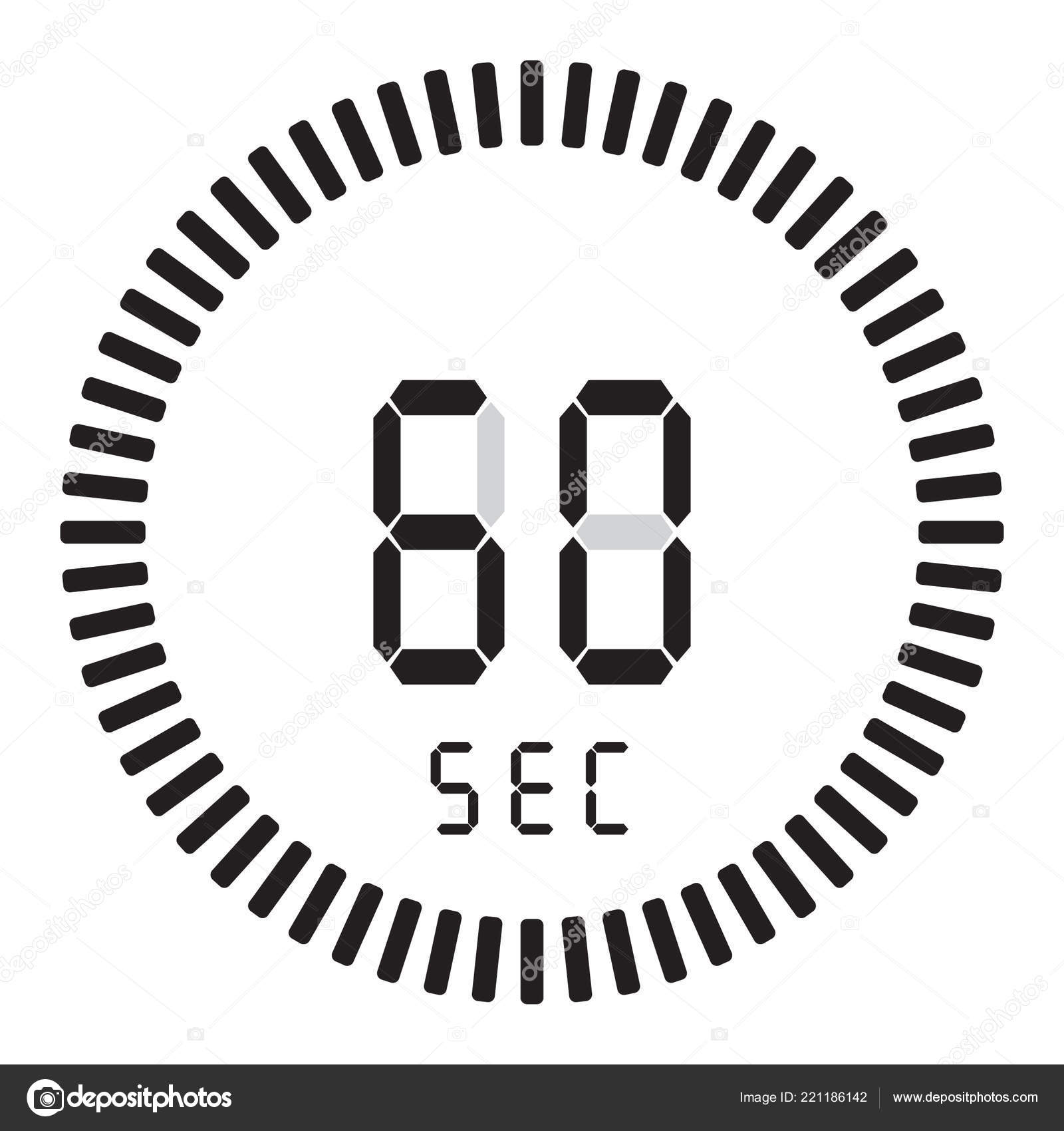 timer countdown 60 seconds stopwatch
