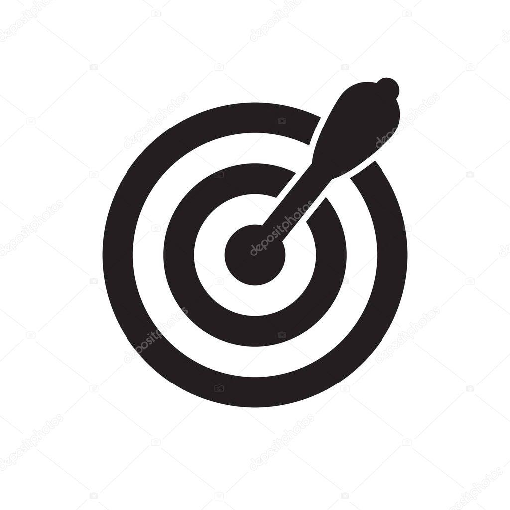successful shoot darts target aim icon on white background vector illustration premium vector in adobe illustrator ai ai format encapsulated postscript eps eps format wdrfree