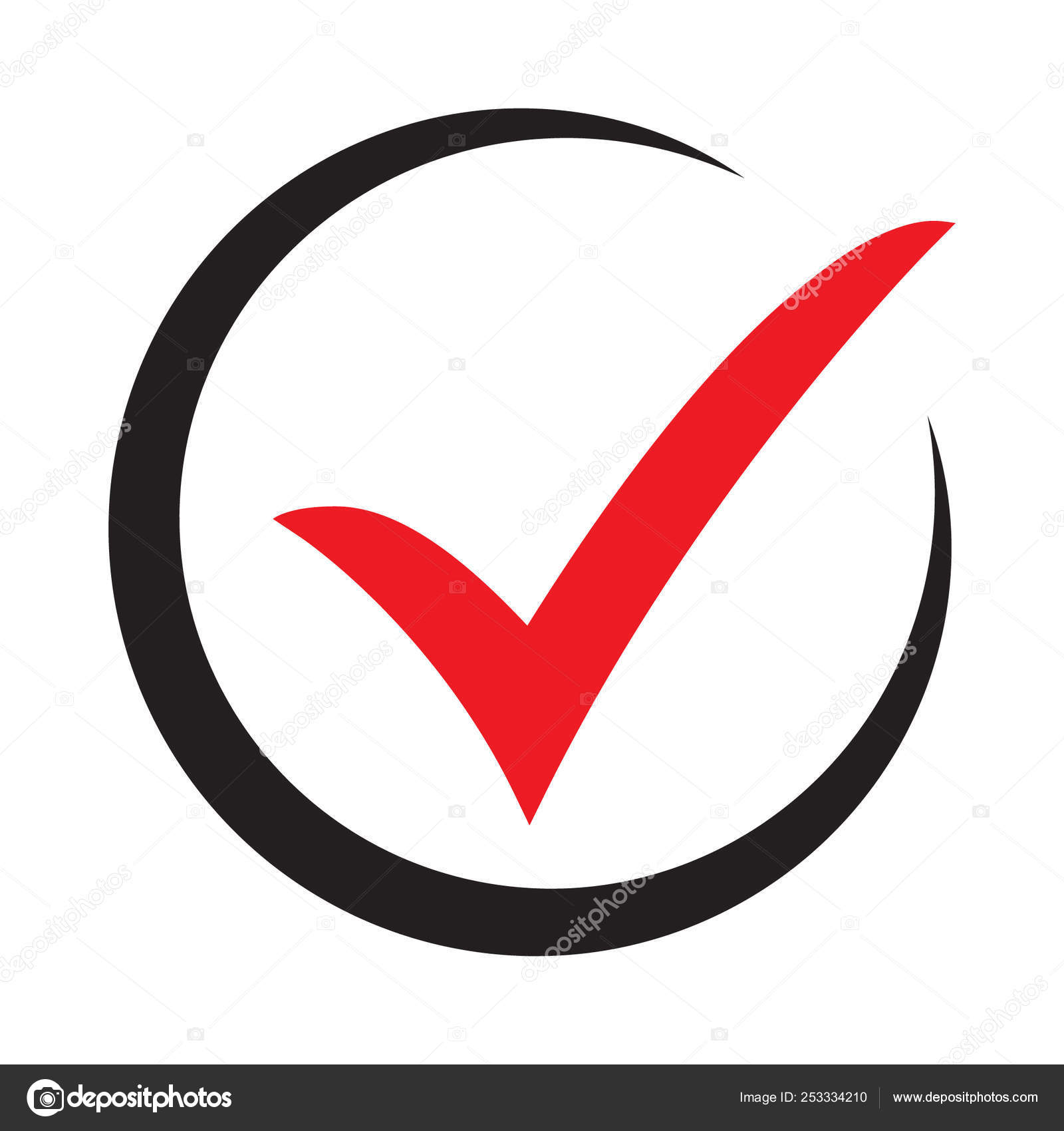 Tick Icon Vector Symbol Green Checkmark Isolated White Background