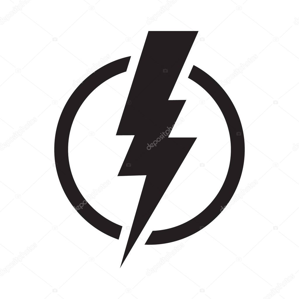 lightning electric power vector logo design element energy and thunder electricity symbol concept lightning bolt sign in the circle power fast speed logotype premium vector in adobe illustrator ai ai lightning electric power vector logo