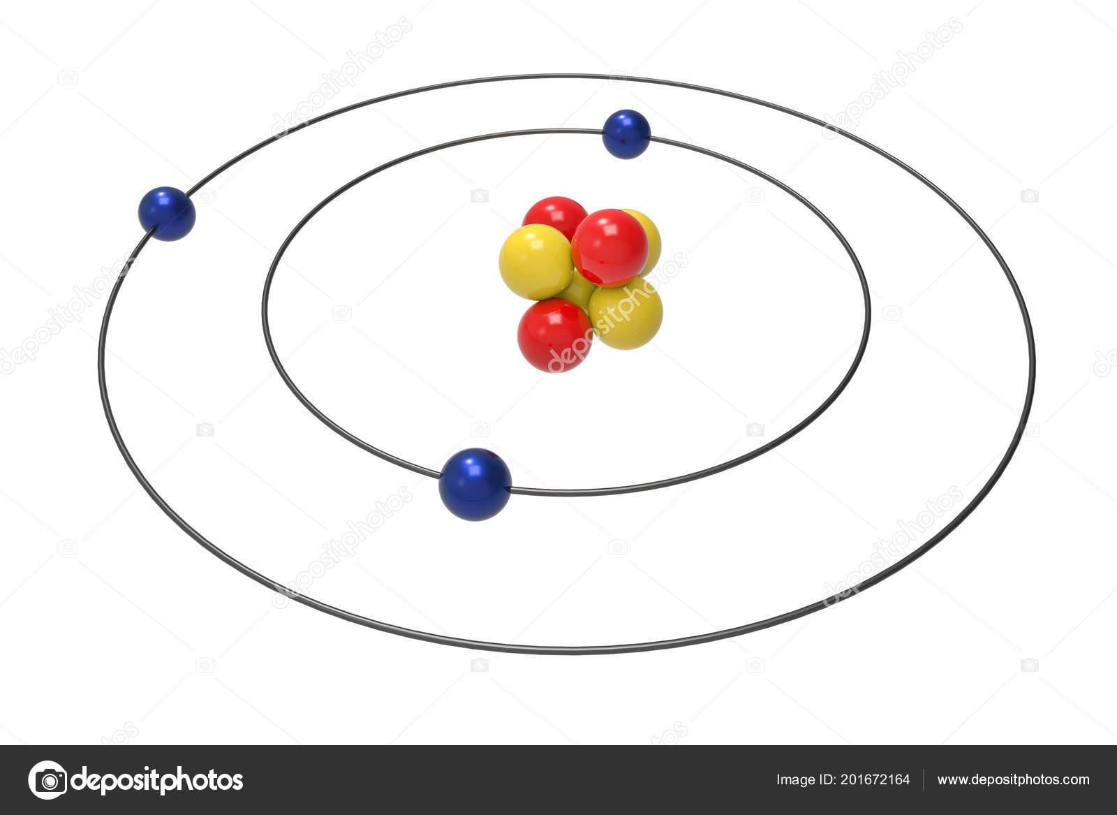 bohr diagram for oxygen